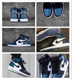 Wholesale Hi Low Lace - Wholesale New Arrival 2017 Hot Sale Air Retro 1 All Star Basketball Shoes cheap Hi AS OG Men High Top Chameleon Fashion Blac