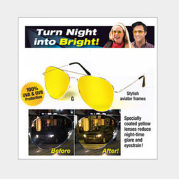 Wholesale Yellow Night Driving Glasses - Men and women general polarizer night vision mirror driver anti-dazzle sunglasses, sunglasses, glass wholesale free shipping