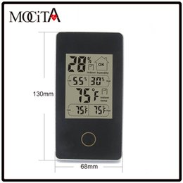 Wholesale Large Display Led Digital Clocks - The Explosion MOCITA Indoor Humidity Temperature Monitor Celsius & Fahrenheit Digital Thermometer with Large Display Screen