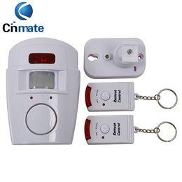 Wholesale Infrared Door Sensor Alarm - IR Alarm systems Infrared sensor Security Detector Home System 2 Remote Control Wireless Motion Sensor Alarm Security Detector