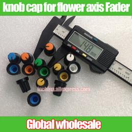 Wholesale Hole Plastic Buttons - Wholesale- 50pcs plastic knob potentiometer cap switch button   encoder cap shaft hole   audio volume mixer knob cap