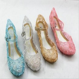 Wholesale Princess Sofia Shoes - Frozen Ice Colors Shoes Alsa SandalS Slipper Cinderella Princess Shoes Of Girls Sapato Infantil Menina Kids Sandals Sofia Glass Slipper