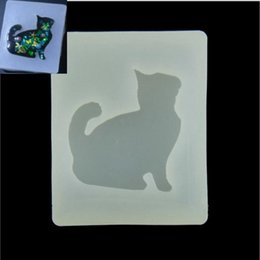 Wholesale Silicone Molds For Cats - Cute kitten Silicone Mould Dried Flower Resin Decorative Craft DIY Mold cat Type resin molds for jewelry