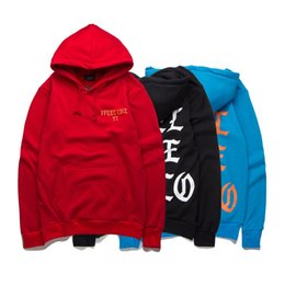 Wholesale Felt Clothing - Wholesale-New Men's winter Hoodies I FEEL LIKE PABLO Kanye West hip hop overcoat casual Sweatshirt With Hood Men Street clothes