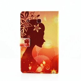 Wholesale Flower Tabs - The Butterfly - loving - flower Flower Fairy Girls Bling Bling Crystal Folio Leather Case Skin with Stand for Samsung Galaxy Tab E 8.0 T377