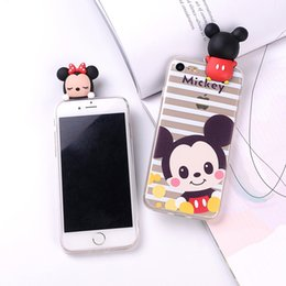 Wholesale Wholesale Phone Caes - For iPhone 6 6S 6Plus 7 7Plus 5 5S SE TPU Soft Phone Cute Panda Mickey Minnie Donald Daisy Duck Bear Judy 3D Cartoon Doll caes