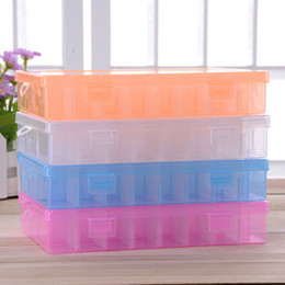 Wholesale 24 Compartment - Practical Adjustable Plastic 24 Compartment Storage Box Case Bead Rings Jewelry Display Organizer Container