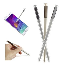 Wholesale Pink Touch Mobiles - Wholesale- 2017 Brand New Universal Capacitive pink silver golden Stylus Pen For Tablet Active Touch Pen Mobile Phone Stylus