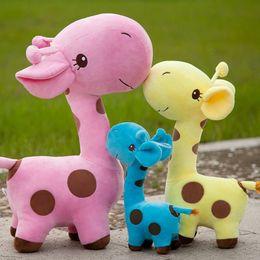 Wholesale Plush Giraffe Pillow - Plush toys girl cute Simulation toys soft giraffe doll pillow doll Kids Toys birthday present Party Decoration