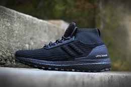 Wholesale Womens Spiked Sneakers - Men Athletic Winter ATR Mid Uncaged White UB Ultra Boost Brand Womens High Triple Black Grey Running Sneaker Shoes 36-44