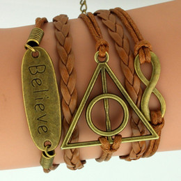 Wholesale Harry Potter Box Set - Europe and the United States around the jewelry Potter Harry triangle 8 words Believe multi element multi layered Bracelet