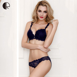 Wholesale Designer Lingerie - New Women Sexy Lingerie Lace Bra Set Luxurious Adjust Push Up Underwear 5 Color Plus Size Brand Designer Bra WI380