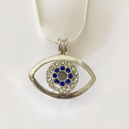 Wholesale Lovely Necklace Wholesale - Shiny Gem-studded Eye Locket Cage Pendant Mounting, DIY Pearl Gem Bead Pendant Necklace Fitting Lovely Charms Jewellery Accessory