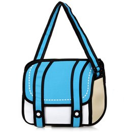 Wholesale 2d handbags - Wholesale- 2016 New Fashion woman bags 2d cartoon bag messenger Shoulder Crossbody bag Bolsa Feminina Bolsosde Ombro 3d Handbag