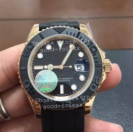 Wholesale Men S Sports Luxury Watches - Top Luxury Superlative JF Factory V10 S Edition Mens Automatic Eta 3135 Watch Men Ceramic Rose Gold 116655 Sport Rubber Oysterflex Watches