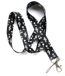 Wholesale Notes For Sale - Hot sale wholesale 20pcs cartoon musical note keyboard phone lanyard fashion keys rope neck rope card rope free shipping 147
