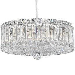 Wholesale Crystal Drum Pendant Lights - Free delivery, modern crystal chandelier, square drum, pendant, suitable for hotels. Restaurant