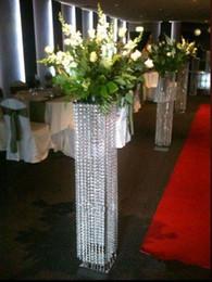 suportes de chão de flores Desconto 120 cm (47 polegada) Pérolas Do Casamento Flores Stands Andar De Pé Centrais de Flores Collumns Com Luzes Passarela Ornamentos T Taiwan Estrada LLFA