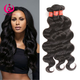 Wholesale Human Hair Extensions Brand - Brazilian Body Wave Hair Weave 4Bundles Double Weft Wow Queen Brand Cheap Wholesale Price Unprocessed Brazilian Virgin Human Hair Extensions