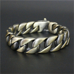 Wholesale Bronze Jewelry Toggles - Hot Sale Bronze Rock Man Popular Bracelet 316L Stainless Steel Fashion Newest Biker Stainless steel bracelet jewelry