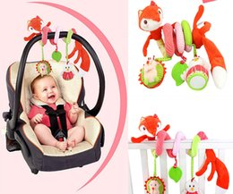 Wholesale Iq Style - Wholesale- Animal Fox Style Newborn Infant Baby IQ Development Plush Toys Bed Stroller Car Hanging Playing Toy Musical Kids Rattles Mobiles