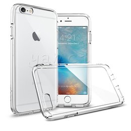Wholesale Iphone Transparent Edge - For Iphone X 8 7 6S plus 5SE transparent TPU Gel Crystal Clear soft Silicon Case Back Cover For Samsung Note 7 galaxy S7 EDGE S6 clear cases