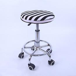Cubiertas de asientos redondas online-Tapa de asiento de algodón color liso Tapa de silla taburete pequeño Diámetro de cubierta de asiento taburete redondo 28-33cm