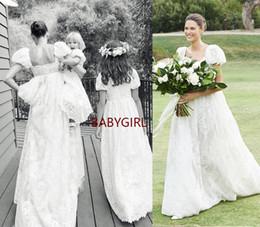 2019 chiffon- spitzekurzschlußansatz-hochzeitskleid Nach Maß Schatz bodenlangen Spitzenkleid Applique und Perlen zurück schnüren sich Empire Brautkleider
