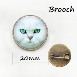 Wholesale Metal Star China - Cartoon Cat brooches lovely jewelry wearable Art charms baby cat glass cabochon dome metal animal brooch pins cute gifts