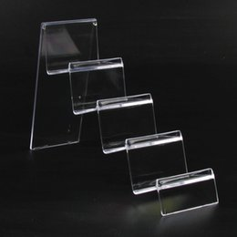 Wholesale Earring Pendant Display Cards - Plastic Jewelry Wallet Display Stand Rack Name Card Holder 4 Tiers 7cm Width