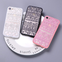 Wholesale Iphone Tribal Pattern - For iPhone 7 7Plus 6 6S 6Plus 5 5S Sexy Fashion Lace Boho Indian Floral Tribal Pattern Soft Clear Phone Cover Case Coque
