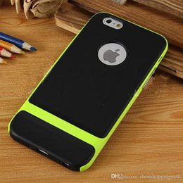 Wholesale Iphone Bumper Case Cheap - For iPhone 6s Rock Neo Hybrid Hybrid Hard Bumper Back Cheap Fitted Case Dirt-resistant IPhone 6 Plus 6 5 5s Note 4