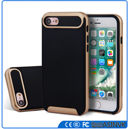 Wholesale Elegant Silicone - Fashion Durable Elegant Top Quality Original 1:1 iPhone 7 iPhone 7 Plus Armor Hybrid Shockproof Dual Layer Defender Protective Case