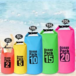 Bolsa impermeable para la playa online-Cubo impermeable Sandy Beach PVC Carpetas de red Carpetas multifunción movimiento Bolsas de tiempo libre Conveniente Bolsa de gran capacidad 26xl J1