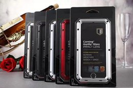 Wholesale metal case for iphone 5c - Brand Metal Waterproof Dropproof Dirtproof Shockproof Phone Case for iPhone 8 X 7 5 5s 5c 6 6s 4.7 plus Back Cover