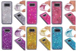 Wholesale Cases For Galaxy Note3 - samsung galaxy phone cases For SamsungS7 s8 case NOTE3 and S6edge S7edge A310 Glitter Liquid Quicksand Case Soft Cover