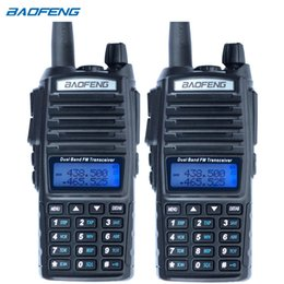 Wholesale Wholesale Dual Band Transceivers - Wholesale- 2PCS Baofeng UV-82 walkie talkie cb radio UV82 portable two way radio FM radio transceiver long range dual band baofeng UV82