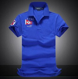 Wholesale Design Polo T Shirts - Famous Pony Man Racing Team Polo T-Shirts Custom Design Big Horse Country Sailing Race Fit Cotton men Casual Polos Tees