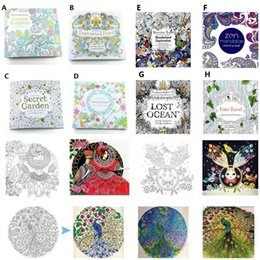 Wholesale Toy Forest - Newest Secret garden adult English decompression hand-painted color in coloring book Enchanted forest children painting books 1677