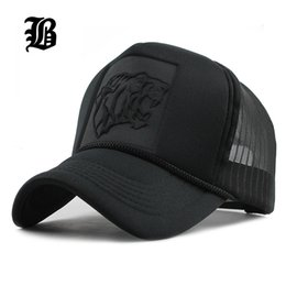 Wholesale Leopard Print Baseball Hats - [FLB] 2017 Hip Hop Black leopard Print Curved Baseball Caps Summer Mesh Snapback Hats For Women Men casquette Trucker Cap