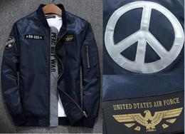 Wholesale Long Military Coats For Women - Air force windbreak Jacket 3m Reflective Army Green Military ma1 flying varsity flight jacket for men women Baseball windproof Coats