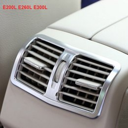 Wholesale Wholesale Air Conditioner Cover - Chrome Rear AC Trim Air Conditioner Decorative Cover Frame for Mercedes Benz E200 E260 E300 E320 E400 Styling Car Accessory