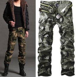 Wholesale Men Casual Work Pants - Men Pants Casual Cotton Military Army Cargo Camo Combat Work Pants Trousers Asian 28-38 R50 salebags