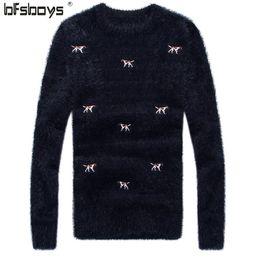 Wholesale Korea Man Sweater - Wholesale- 2016 Fashion Men New Arrival Winter Style Men O-Neck embroidery weater Korea Casual Wear Long sleeve sweater
