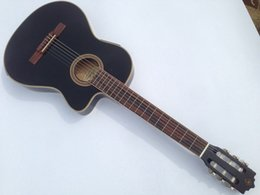 Wholesale Thin Electric Guitar - Wholesale-cutway thin body electric classic guitar with turner with eq