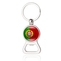 Wholesale Fashion World Men - Beer Bottle Opener Key Chains Portugal Japan Switzerland Serbia Slovenia New Zealand Iran World Cup Soccer Men's Fashion Jewelery Wholesale
