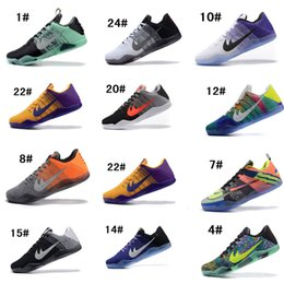 Wholesale Id Lace - 2016 Kobe XI Elite Low ID Basketball Shoes Men Bryant 11 4KB Last Emperor GCR Easter Achilles Heel Athletics Sports Sneakers Free Shipping