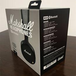 Wholesale Mid Wireless - Marshall MID Bluetooth Headphones With Mic Deep Bass DJ Hi-Fi Headset Professional Marshall Headphones Wireless headsets DHL Shipping.