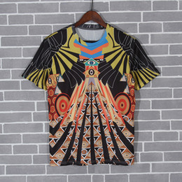 Wholesale Woman Abstract Shirts - 2017 SS Spring Summer New Collection Designer T-Shirt Abstract painting Printed Women Men Women T shirts Top Tee Unisex