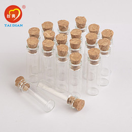 Wholesale Vial Diy - 2ml Mini Glass Bottles Pendants With Cork or Rubber Stopper Small Bottle Decoration Crafts Vials Jars Gift DIY Bottles 100pcs
